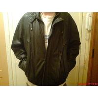 Куртка мужская из натуральной кожи на меховой подстежке 52 р