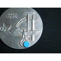 Знак, значок - праздник 1 мая, день труда, 1936 год, 3 рейх, Германия, клеймо (оригинал).