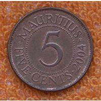Маврикий 5 центов 2004 года. Подписывайтесь! Много новых лотов в продаже!!!