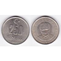 Турция 250 лир 2003