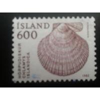 Исландия 1982 ракушка