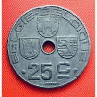 12-14 Бельгия, 25 сантимов 1944 г. Фламандский тип
