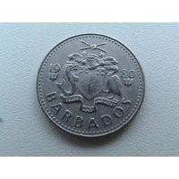 10 центов 1980 г Барбадос