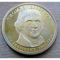 США 1 доллар 2007 Джефферсон пруф с набора