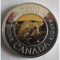 Канада, доллар, 2000, Миллениум, серебро, пруф