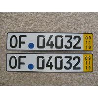 Автомобильный номер Германия OF04032