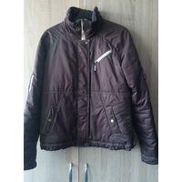Куртка коричневая утепленная размер S