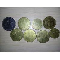 РАСПРОДАЖА ВСЕГО!!! Набор монет (Украина, РФ, Италия)