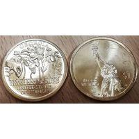 США 1 доллар 2019 год. Американские инновации, Сад Попечителей, Двор Р и D.