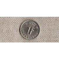Люксембург 1 франк 1988(Nw)