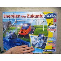 Конструктор для опытов (физика) Galileo (Германия), Energien der Zukunft, 8+ Произведено на фабрике в Италии (Clementony Gmbh). Новая, коробка запечатана в пленку (хорошая многоразовая коробка с крышк