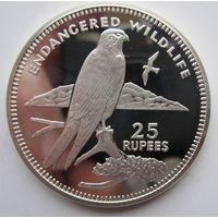 Сейшелы. 25 рупий 1995. Птица. Серебро (54)