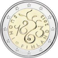 2 евро 2013 Финляндия 150 лет парламенту UNC из ролла