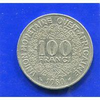 Западная Африка 100 франков 1980