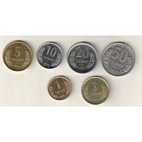 Узбекистан набор 6 монет 1994