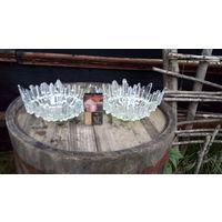 Винтажные вазочки-конфетницы стекло ссср