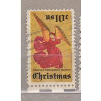 Рождество  нижним полем США 1974 год лот 1063 можно раздельно