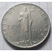Ватикан 100 лир, 1958           ( 6-2-3 )