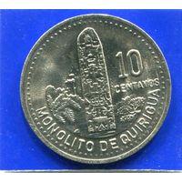 Гватемала 10 сентаво 1991 UNC