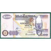 ЗАМБИЯ , 100  КВАЧА , 2008 ГОД   UNC