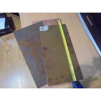 Стеклотекстолит . Три листа ( 39 Х 18.5 см.,34 Х 18.5 см.,33.5 Х 16.5 см.)одним лотом