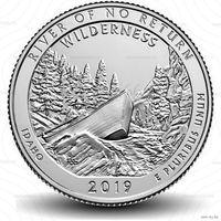 25 центов США 2019 г.  50 парк резерват имени Фрэнка Черча P