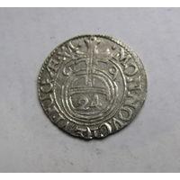 Редкий драйпелькер 1669 Рига. Карла XI Швеция
