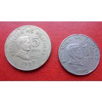 Монеты Филиппин 5 и 1 песо (цена за все) - из коллекции