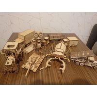 Lemmo, деревянный 3D конструктор, 8 разных наборов