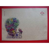 Крафт-конверт, Сидорова Светлана, Цветочник, чистый.