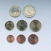 Эстония полный набор евро (8 монет) 2018 (очень редкий) (10 центов - 2011) UNC из ролла