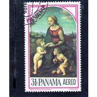 Панама. Ми-875. Живопись. Рафаэль Санти. Мадонна с младенцами. 1966