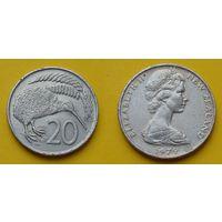 Новая Зеландия 20 центов 1979г.