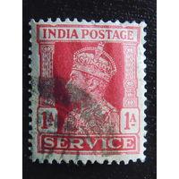 Британская Индия 1937 г. Король Георг V .