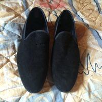 Zara мужские лоферы замшевые чёрные, размер 42 (размер Zara 43)