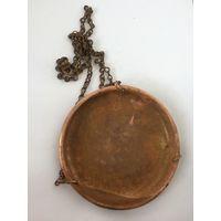 Чаша, тарелка с цепью от старинных весов