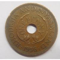 Родезия и Ньясаленд 1 пенни 1956 г