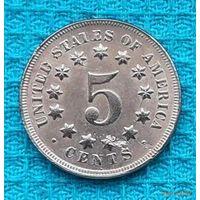 США 5 центов 1870 года