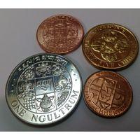 Бутан 5, 10, 25 чертумов, 1 нгултрум 1979 набор из 4 монет из ролла