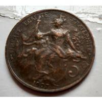 Франция 5 сантимов, 1907  2-6-23