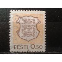 Эстония 1991 Стандарт, герб 0,50