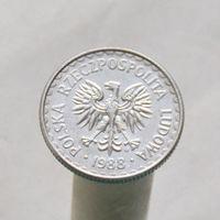 Польша 1 злотый 1988