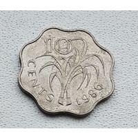 Свазиленд 10 центов, 1986 1-2-10