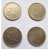 Италия 200 лир, 1980 ФАО - Международный женский год 5-12-4*7