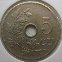 Бельгия 5 сантимов 1906 г. Belgie. В холдере (gk)