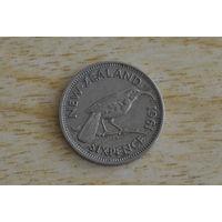 Новая Зеландия 6 пенсов 1961