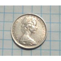 Австралия 5 центов 1982г. Ежик.