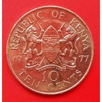 58-01 Кения, 10 центов 1977 г.