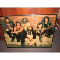 Плакат на фанере группа Scirocco