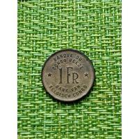 Бельгийское Конго 1 франк 1949 слон
